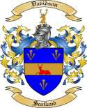 Davidson Family Coat of Arms from Scotland