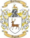 Davidsone Family Coat of Arms from England