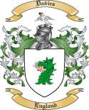 Davies Family Coat of Arms from England