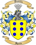 Davilla Family Crest from Spain