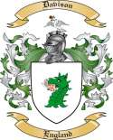 Davison Family Crest from England