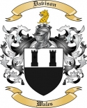 Davison Family Coat of Arms from Wales