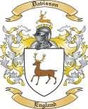 Davisson Family Coat of Arms from England
