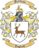 Davitson Family Coat of Arms from England