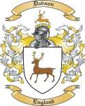 Davson Family Coat of Arms from England