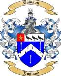 Dawson Family Coat of Arms from England