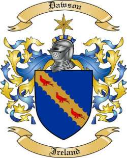 dawson family crest from ireland by the tree maker
