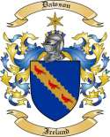 Dawson Family Crest from Ireland