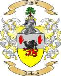 Daylie Family Crest from Ireland