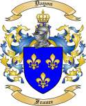 Dayon Family Coat of Arms from France