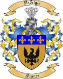DeAigle Family Coat of Arms from France