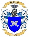 DeBellis Family Crest from Italy