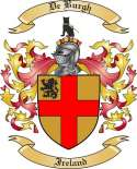 DeBurgh Family Coat of Arms from Ireland