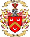 DeCormie Family Coat of Arms from France