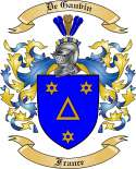 DeGauvin Family Crest from France