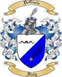 DeGioia Family Coat of Arms from Italy
