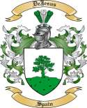DeJesus Family Crest from Spain