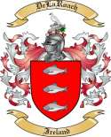 DeLaRoach Family Crest from Ireland