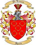 DeLemus Family Crest from Spain