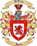 DeLeon Family Coat of Arms from Spain