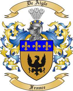 De Aigle Family Coat of Arms from France
