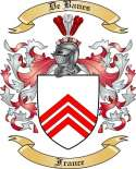 De Banes Family Coat of Arms from France