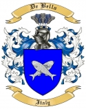 De Bella Family Crest from Italy