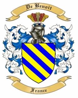 De Benoit Family Crest from France