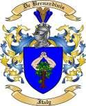De Bernardinis Family Coat of Arms from Italy
