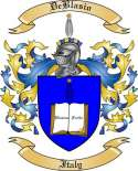 De Blasio Family Coat of Arms from Italy