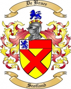 De Bruce Family Crest From Scotland By The Tree Maker