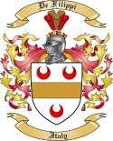 De Filippi Family Coat of Arms from Italy