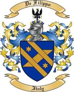 De Filippo Family Coat of Arms from Italy2