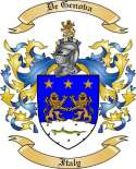 De Genova Family Coat of Arms from Italy