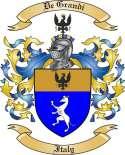 De Grandi Family Coat of Arms from Italy