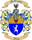 De Grandis Family Coat of Arms from Italy