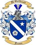 De Guilbault Family Coat of Arms from France2