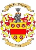 De La Portilla Family Coat of Arms from Italy