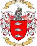 De La Roach Family Coat of Arms from Ireland