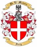 De Li Matola Family Crest from Italy
