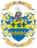 De Mott Family Crest from England