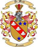 De Mott Family Coat of Arms from France
