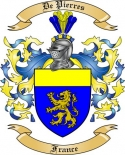 De Pierres Family Crest from France
