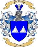 De Roque Family Crest from France