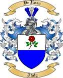 De Rosa Family Crest from Italy2