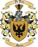 De Rosa Family Crest from Spain