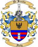 De Santis Family Coat of Arms from Italy