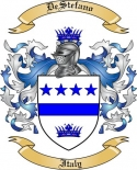 De Stefano Family Coat of Arms from Italy