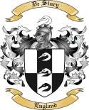 De Stury Family Crest from England