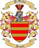 De Vallee Family Crest from France